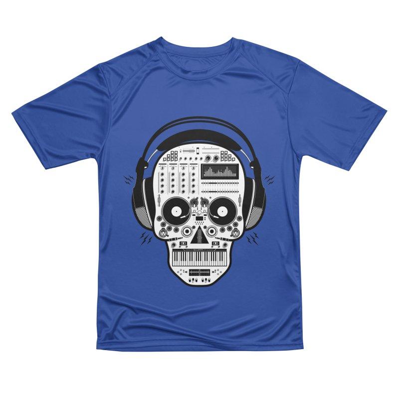 DJ Skull Women's Performance Unisex T-Shirt by Tony Bamber's Shop