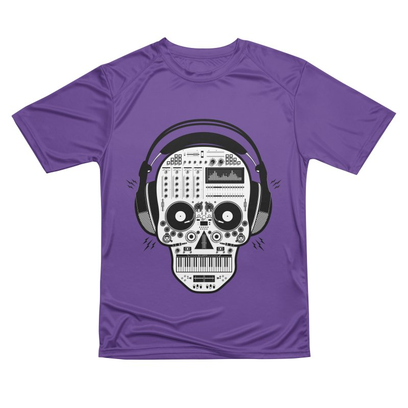 DJ Skull Women's Performance Unisex T-Shirt by Tony Bamber's Shop