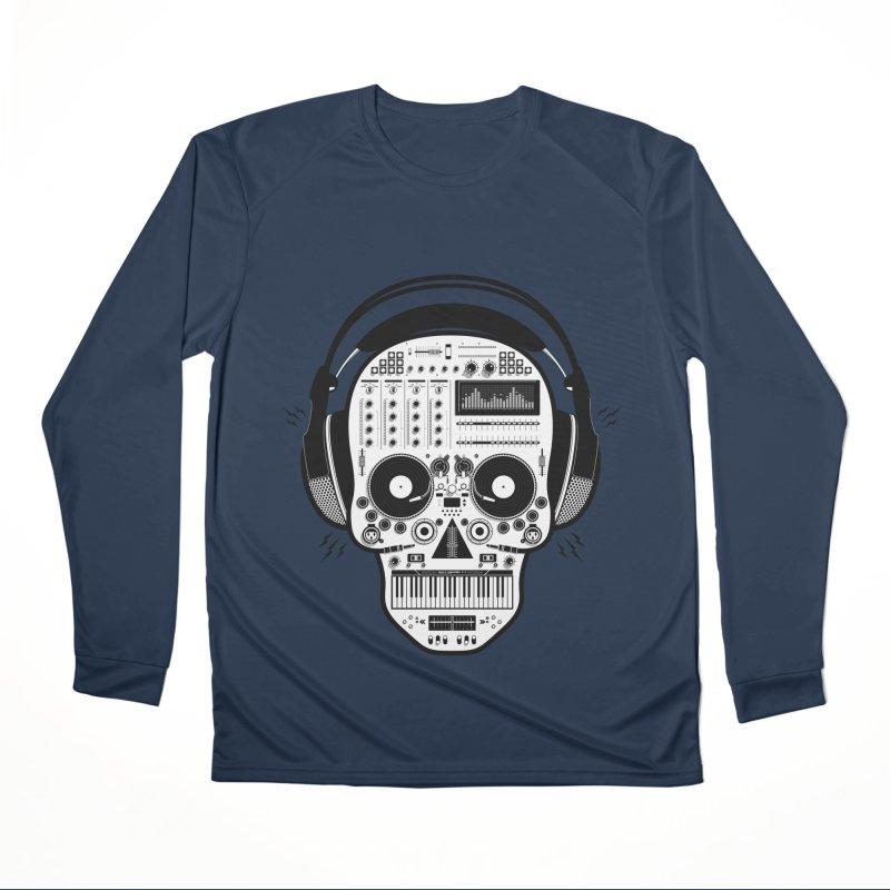 DJ Skull Women's Performance Unisex Longsleeve T-Shirt by Tony Bamber's Shop