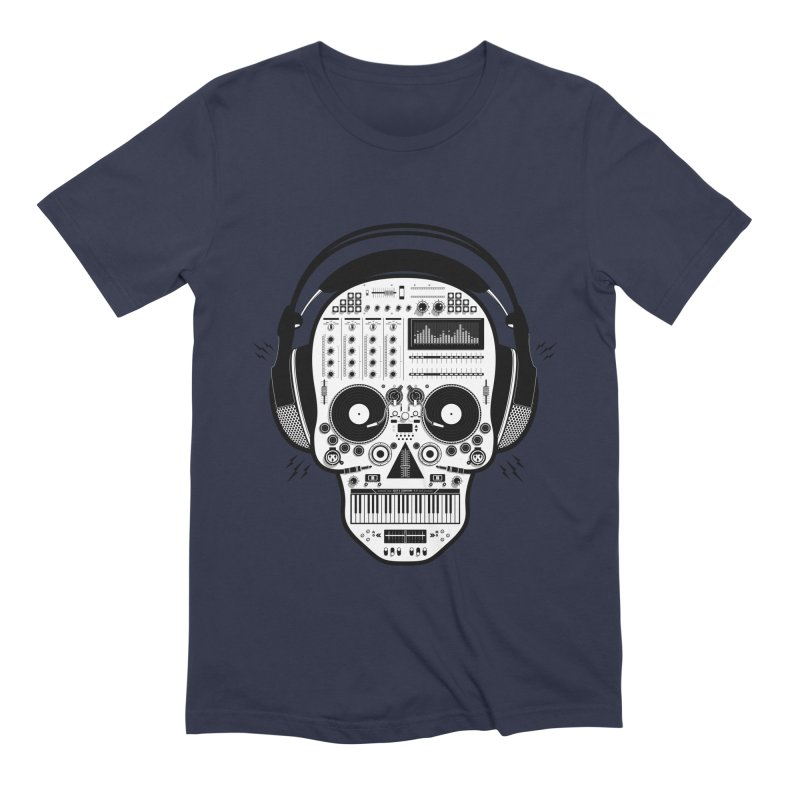 DJ Skull Men's Extra Soft T-Shirt by Tony Bamber's Shop