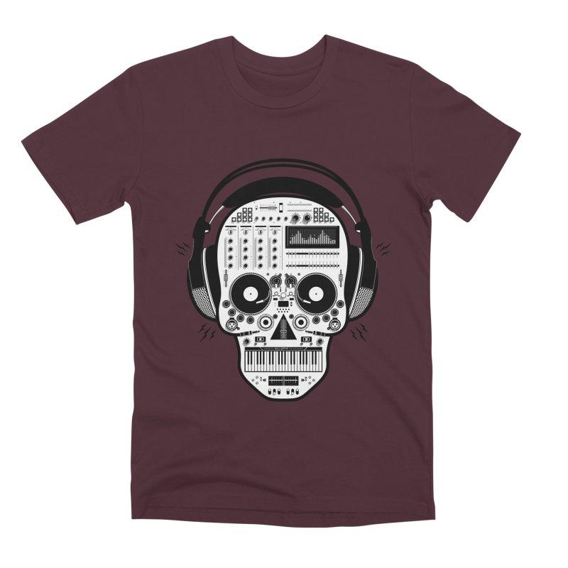 DJ Skull Men's Premium T-Shirt by Tony Bamber's Shop