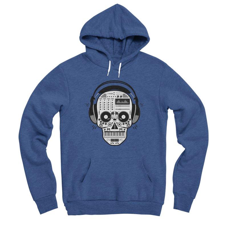 DJ Skull Women's Sponge Fleece Pullover Hoody by Tony Bamber's Shop