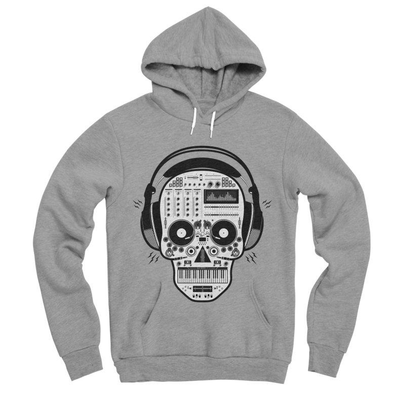 DJ Skull Men's Sponge Fleece Pullover Hoody by Tony Bamber's Shop