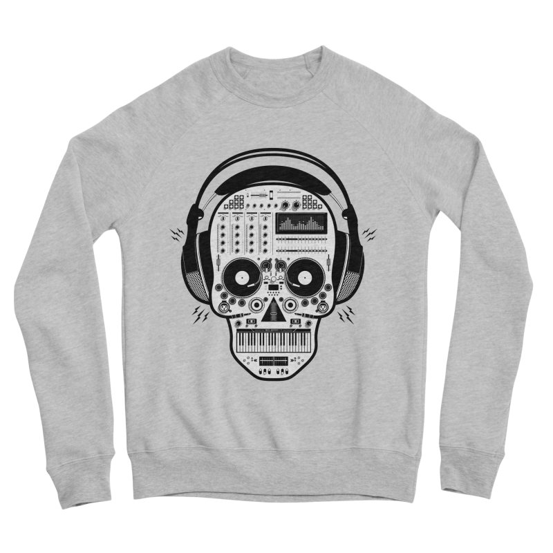 DJ Skull Men's Sponge Fleece Sweatshirt by Tony Bamber's Shop