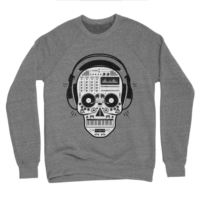 DJ Skull Men's Sponge Fleece Sweatshirt by Tony Bamber's Shop