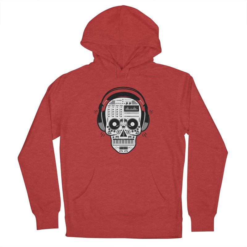 DJ Skull Women's French Terry Pullover Hoody by Tony Bamber's Shop