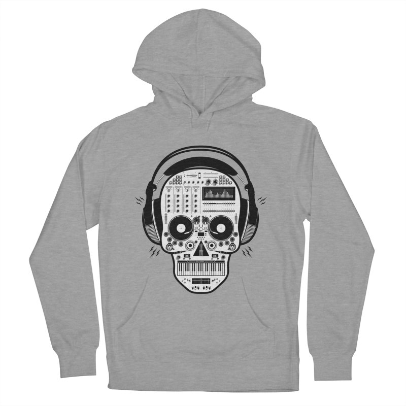 DJ Skull Men's French Terry Pullover Hoody by Tony Bamber's Shop