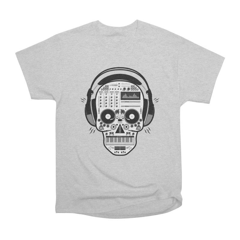 DJ Skull Men's Heavyweight T-Shirt by Tony Bamber's Shop