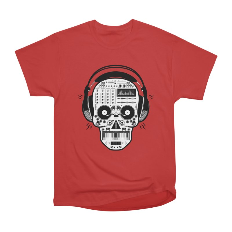 DJ Skull Women's Heavyweight Unisex T-Shirt by Tony Bamber's Shop