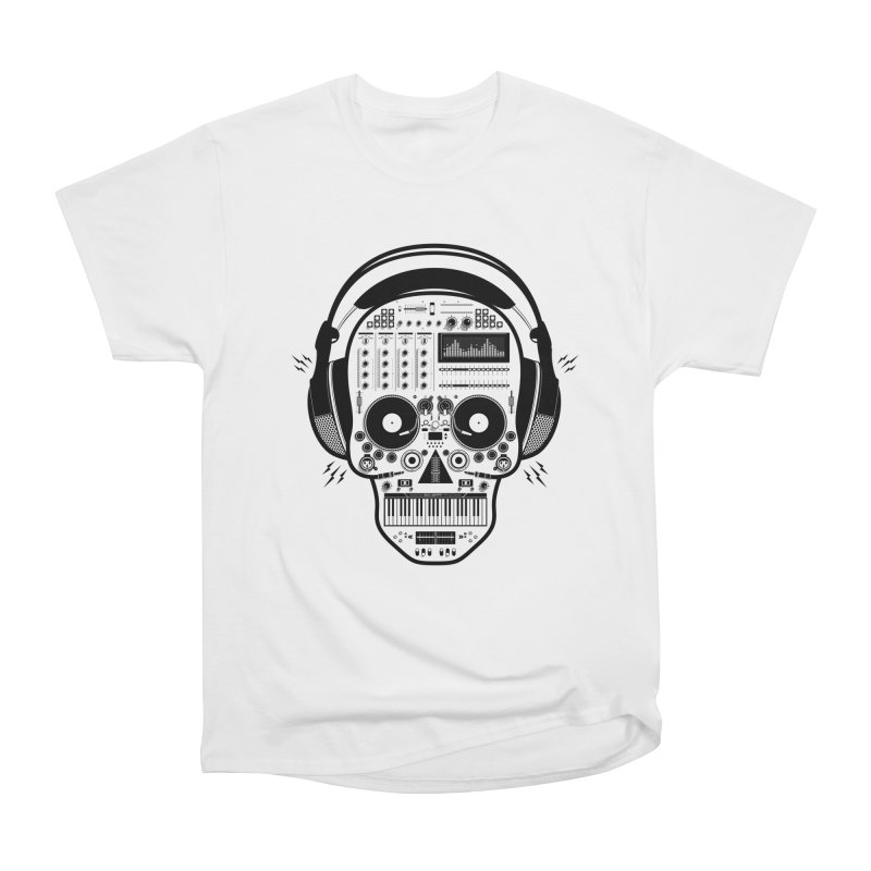 DJ Skull Women's Heavyweight Unisex T-Shirt by Tony Bamber's Shop