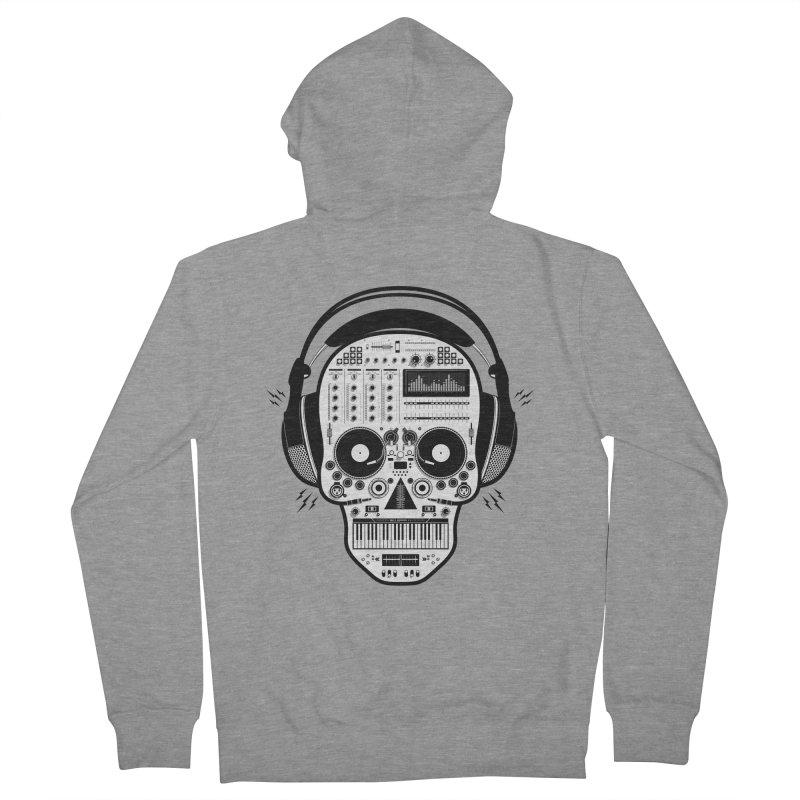 DJ Skull Women's French Terry Zip-Up Hoody by Tony Bamber's Shop
