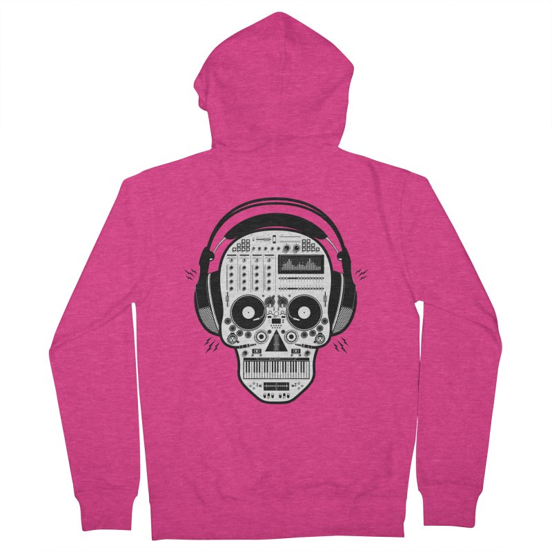 DJ Skull Women's French Terry Zip-Up Hoody by Tony Bamber's Shop