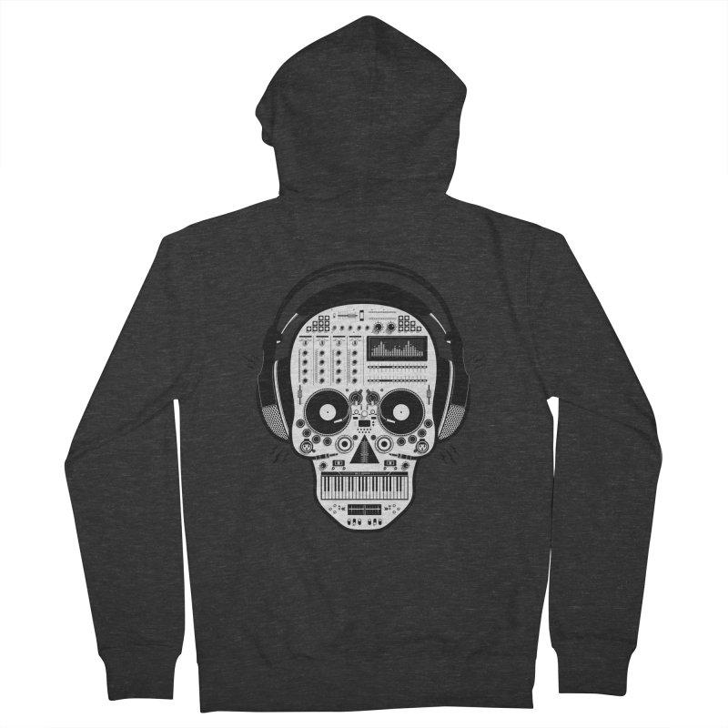 DJ Skull Men's French Terry Zip-Up Hoody by Tony Bamber's Shop
