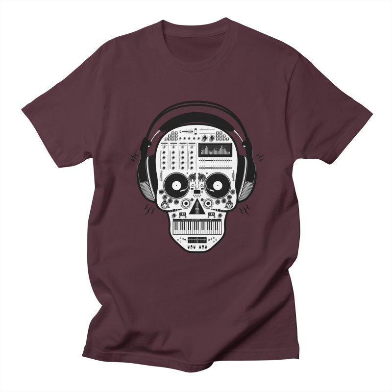 DJ Skull Women's Regular Unisex T-Shirt by Tony Bamber's Shop
