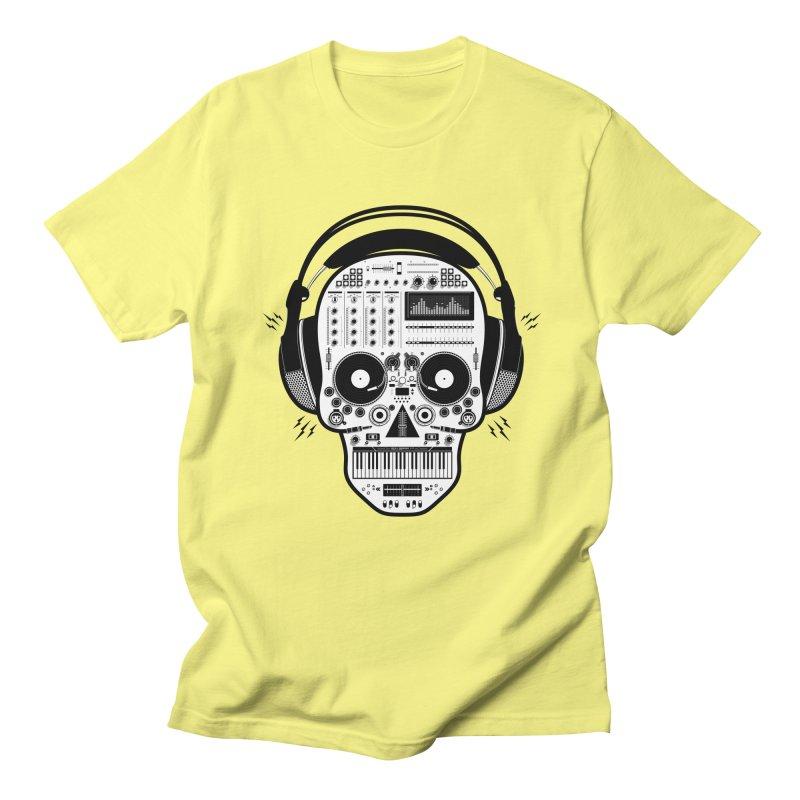 DJ Skull Men's Regular T-Shirt by Tony Bamber's Shop