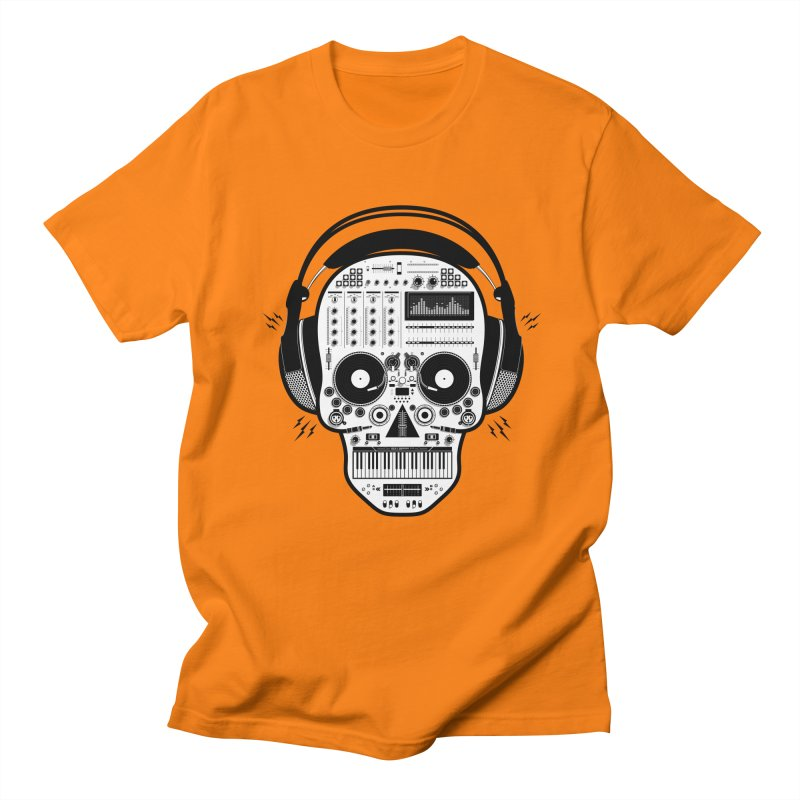 DJ Skull Women's Regular Unisex T-Shirt by Tony Bamber's Shop