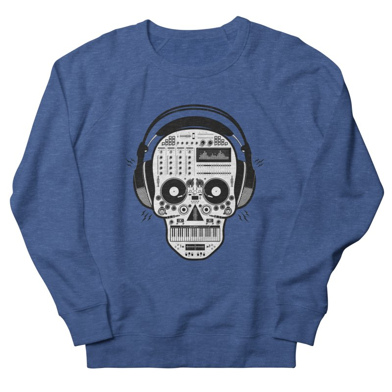 DJ Skull Women's French Terry Sweatshirt by Tony Bamber's Shop