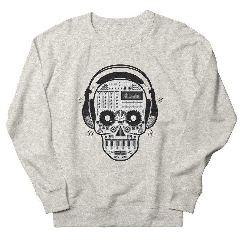 DJ Skull Men's French Terry Sweatshirt by Tony Bamber's Shop
