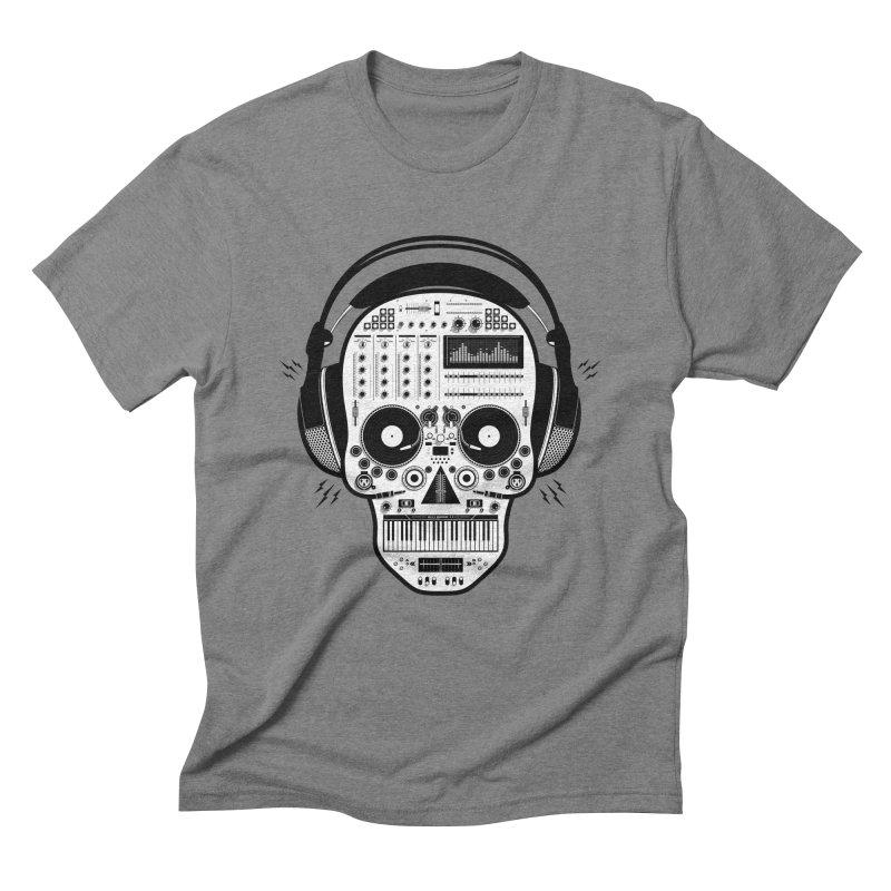 DJ Skull Men's Triblend T-Shirt by Tony Bamber's Shop