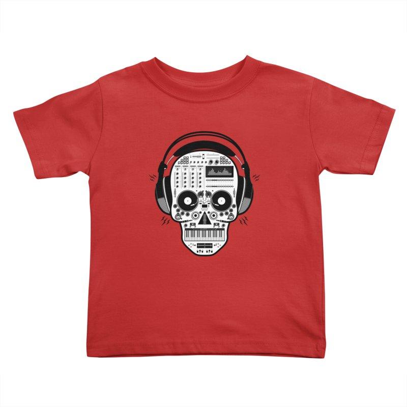 DJ Skull Kids Toddler T-Shirt by Tony Bamber's Shop