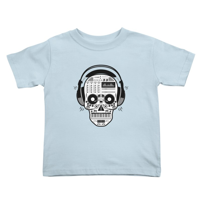 DJ Skull Kids Toddler T-Shirt by Tony Bamber's Shop