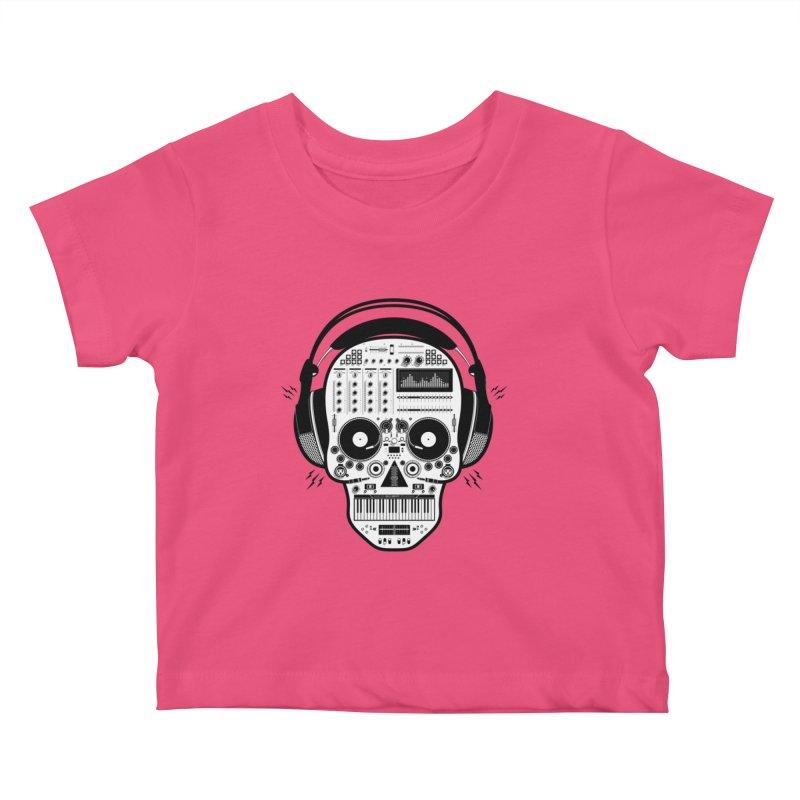 DJ Skull Kids Baby T-Shirt by Tony Bamber's Shop