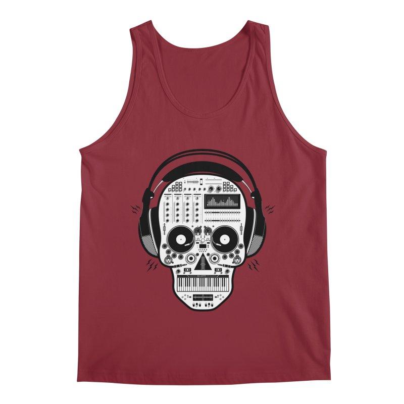 DJ Skull Men's Regular Tank by Tony Bamber's Shop