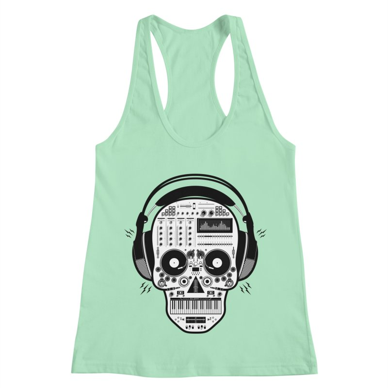 DJ Skull Women's Racerback Tank by Tony Bamber's Shop
