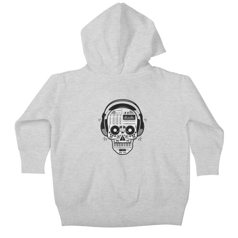 DJ Skull Kids Baby Zip-Up Hoody by Tony Bamber's Shop