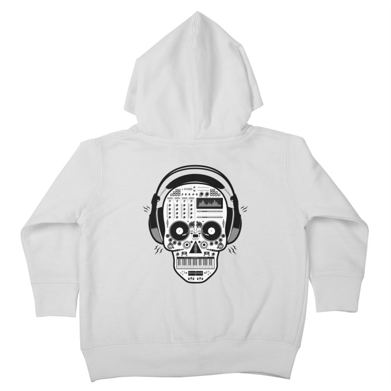 DJ Skull Kids Toddler Zip-Up Hoody by Tony Bamber's Shop