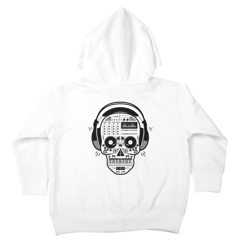 DJ Skull Kids Toddler Zip-Up Hoody by Tony Bamber's Shop