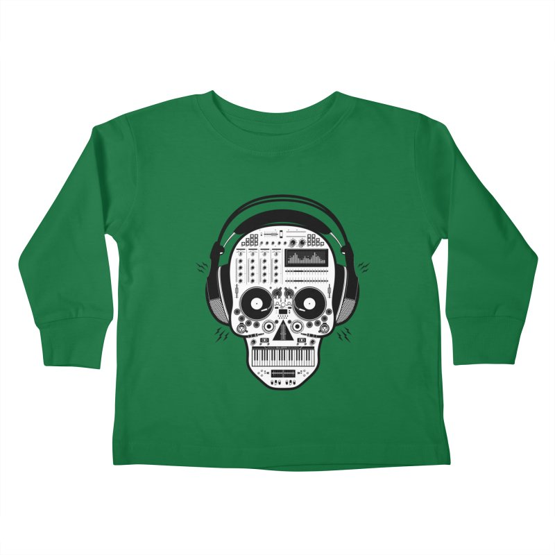 DJ Skull Kids Toddler Longsleeve T-Shirt by Tony Bamber's Shop