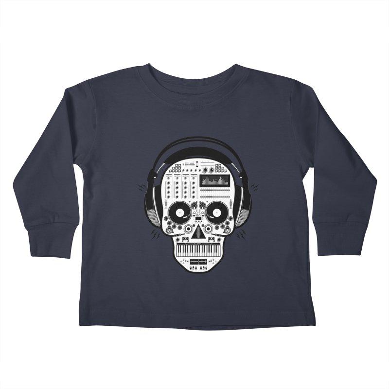 DJ Skull Kids Toddler Longsleeve T-Shirt by Tony Bamber's Shop