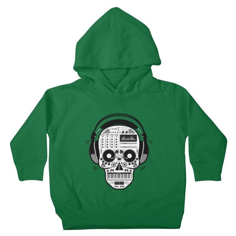 DJ Skull Kids Toddler Pullover Hoody by Tony Bamber's Shop
