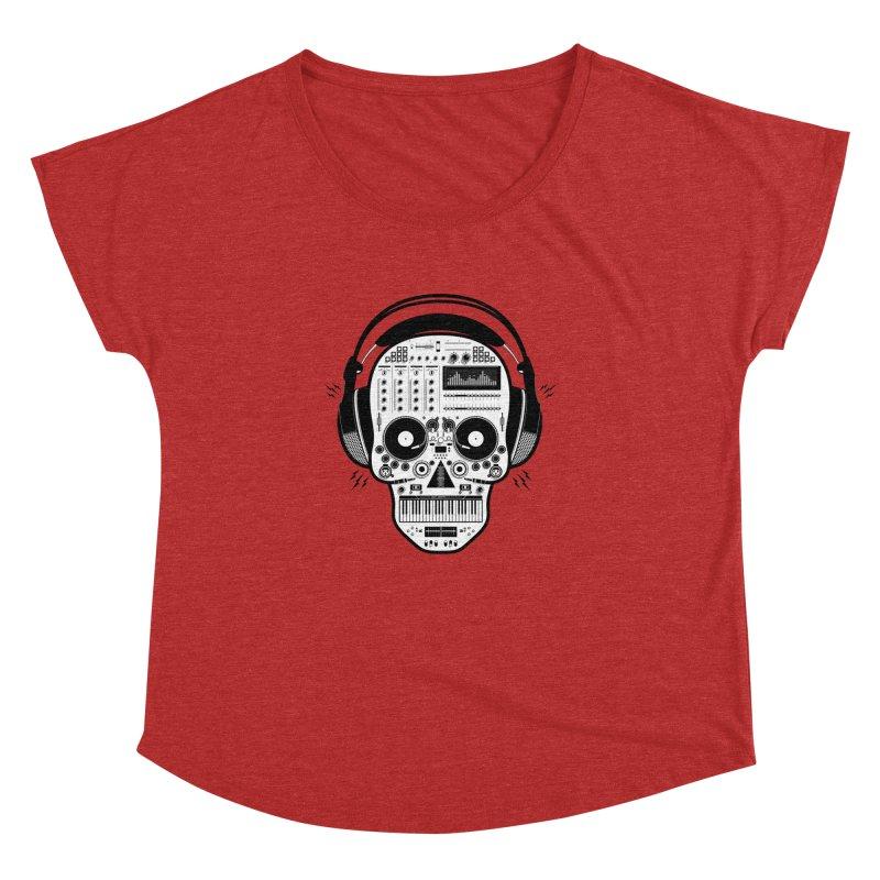 DJ Skull Women's Dolman Scoop Neck by Tony Bamber's Shop