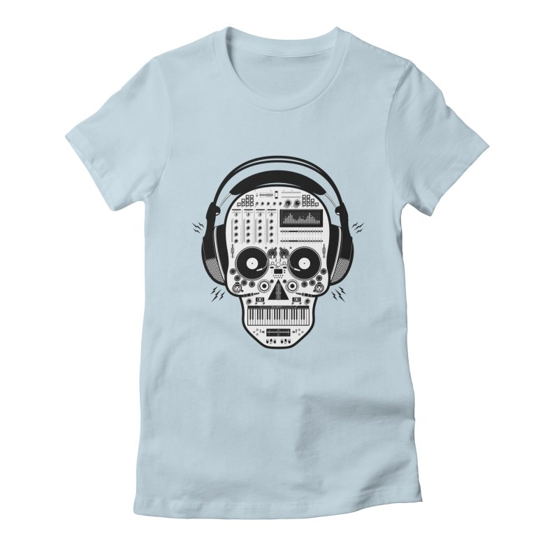 DJ Skull Women's Fitted T-Shirt by Tony Bamber's Shop