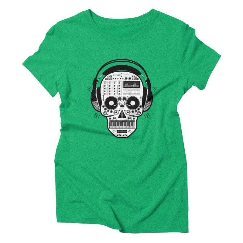 DJ Skull Women's Triblend T-Shirt by Tony Bamber's Shop