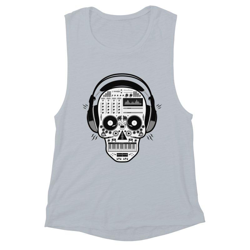 DJ Skull Women's Muscle Tank by Tony Bamber's Shop