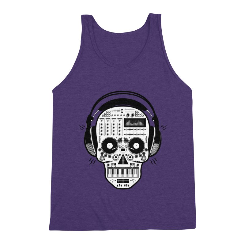 DJ Skull Men's Triblend Tank by Tony Bamber's Shop