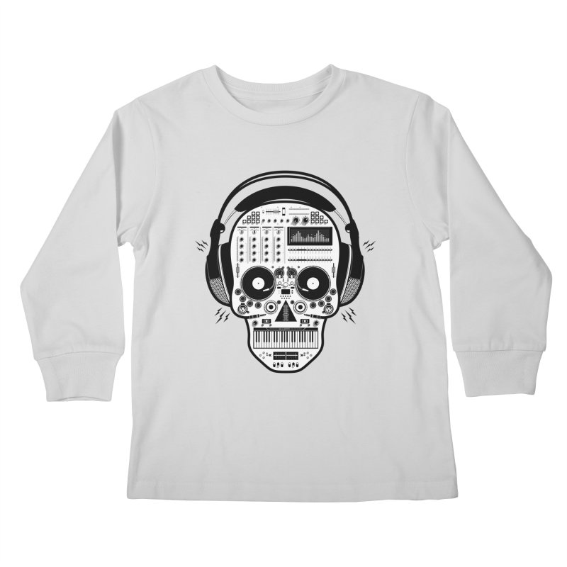 DJ Skull Kids Longsleeve T-Shirt by Tony Bamber's Shop