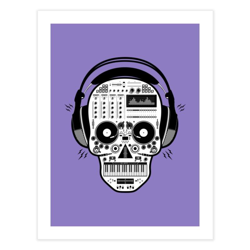 DJ Skull Home Fine Art Print by Tony Bamber's Shop