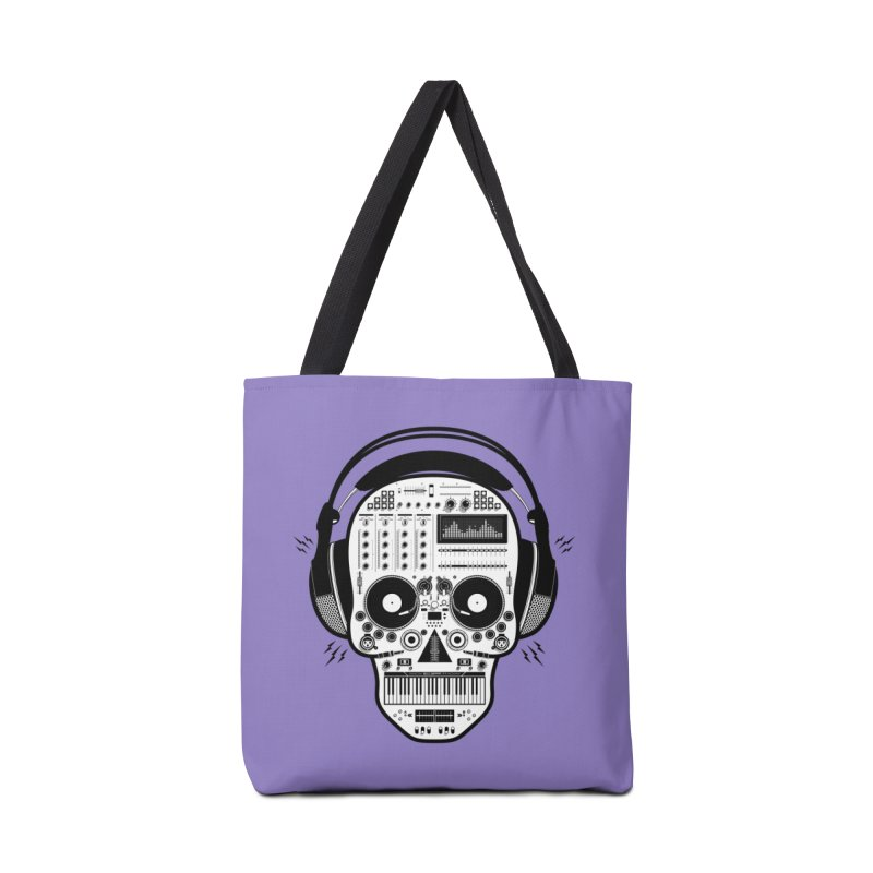 DJ Skull Accessories Tote Bag Bag by Tony Bamber's Shop