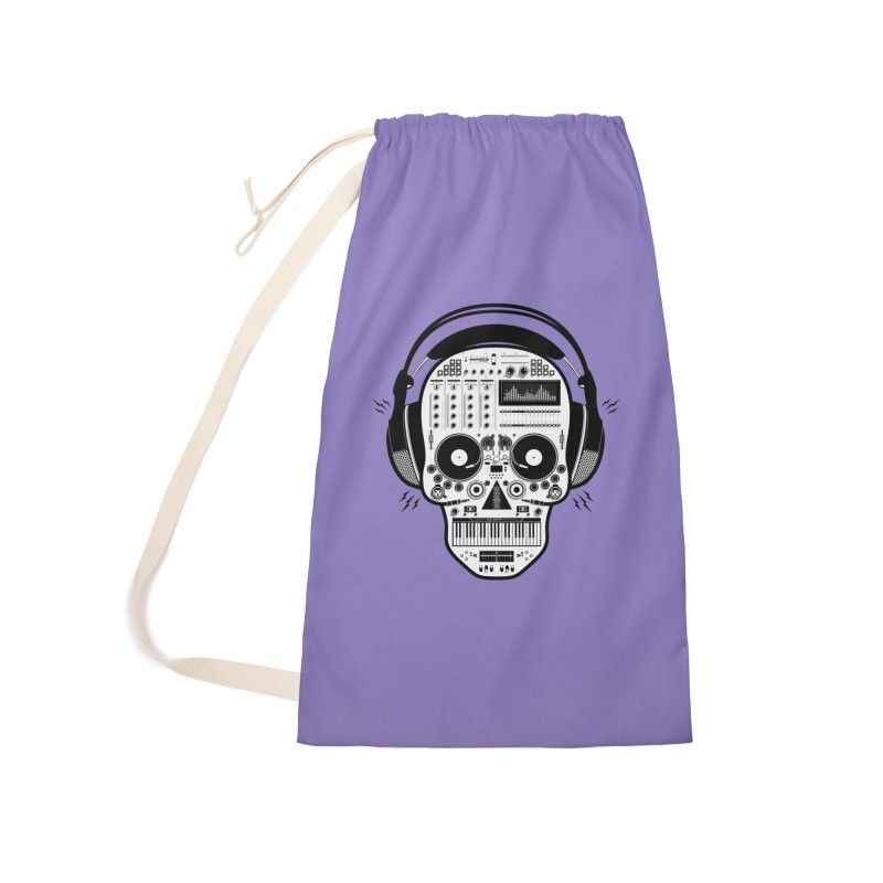 DJ Skull Accessories Laundry Bag Bag by Tony Bamber's Shop