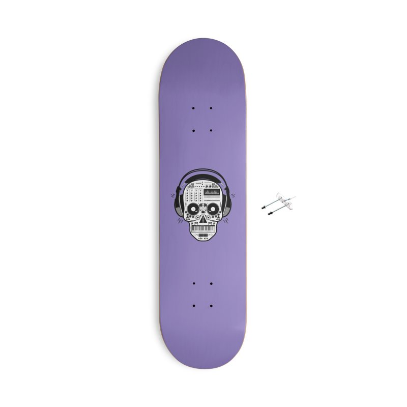 DJ Skull Accessories With Hanging Hardware Skateboard by Tony Bamber's Shop