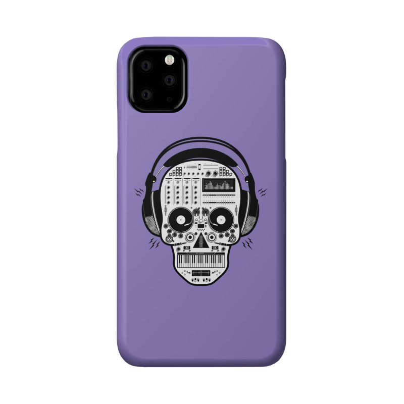 DJ Skull Accessories Phone Case by Tony Bamber's Shop