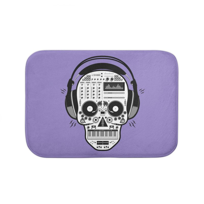 DJ Skull Home Bath Mat by Tony Bamber's Shop