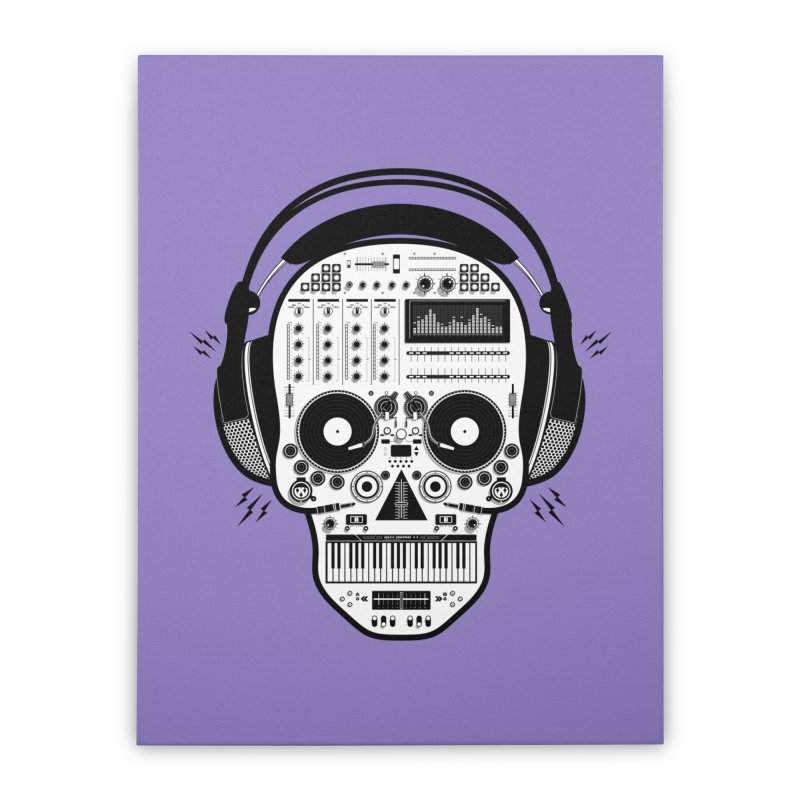 DJ Skull Home Stretched Canvas by Tony Bamber's Shop