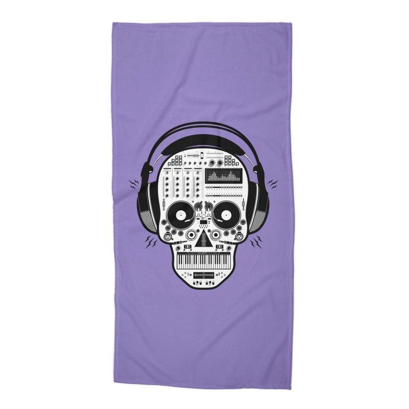 DJ Skull Accessories Beach Towel by Tony Bamber's Shop
