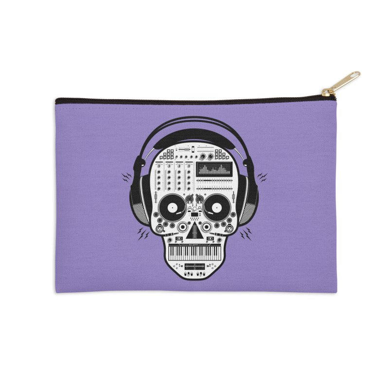 DJ Skull Accessories Zip Pouch by Tony Bamber's Shop
