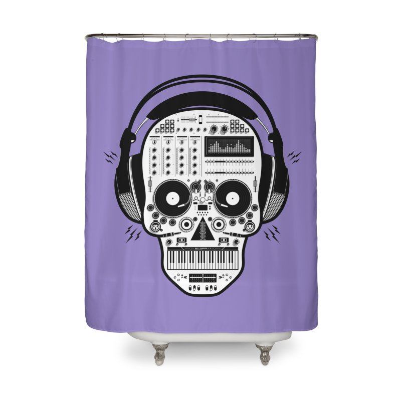 DJ Skull Home Shower Curtain by Tony Bamber's Shop